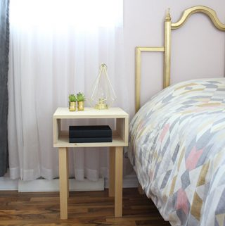 How to build a nightstand for less than $40 and under 2 hours.