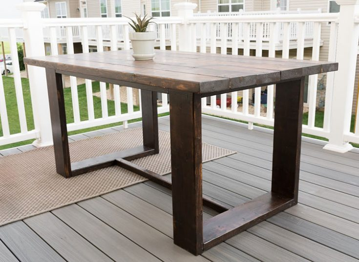 Build Your Own Outdoor Dining Table: Modern Outdoor Table Build Plans