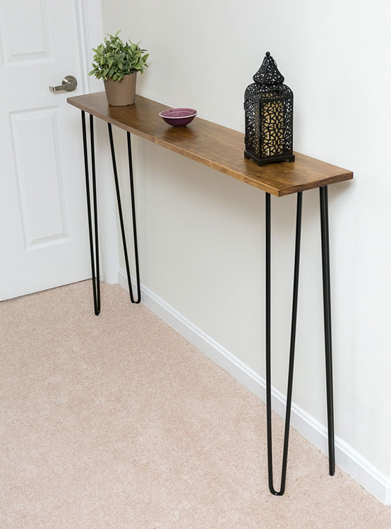 Leftover Pine DIY Hairpin Leg Console Table | By Brittany Goldwyn | Live Creatively