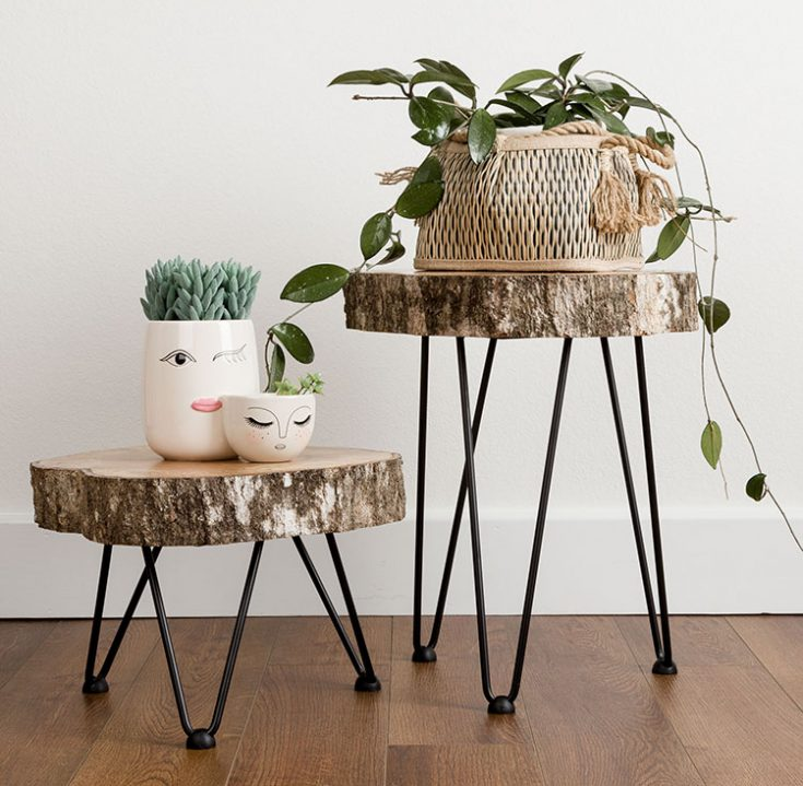 Easy DIY live edge tables with hairpin legs. Step by step guide...