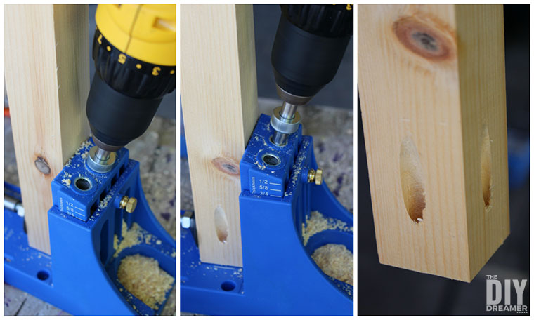 How to make pocket holes in table legs.