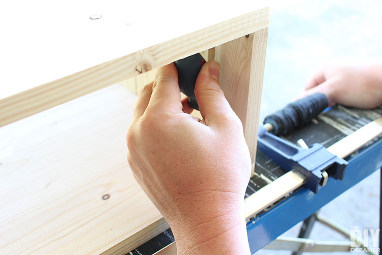 Use a short screwdriver for small openings.