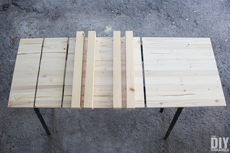 Wood pieces needed to build a nightstand.