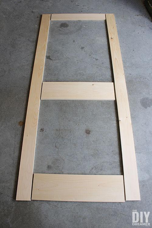 DIY screen door template.