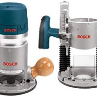 Bosch 1617EVSPK Woodworking Router Combo Kit - 2.25 HP Plunge/Fixed Base Variable Speed Kit with 12 Amp Motor