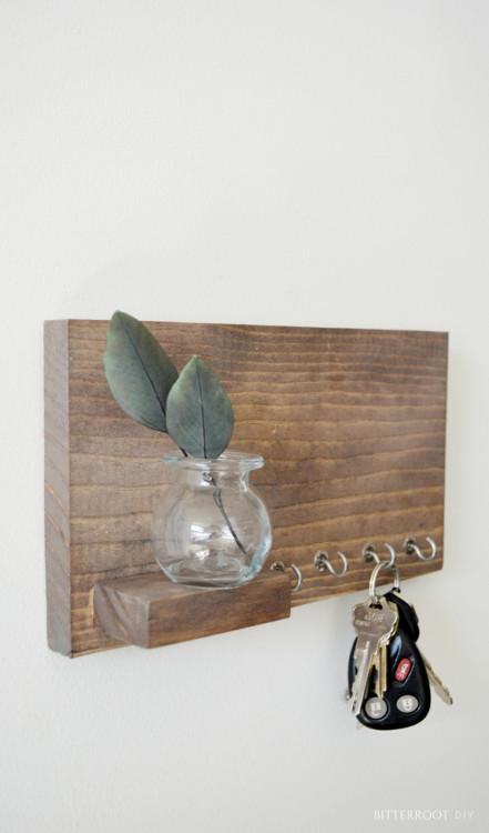 Entryway Shelf with Hooks - Scrap Wood Series #9