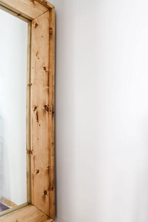 DIY Mirror Frame - Frame Your Bathroom Mirror for less than $20! -