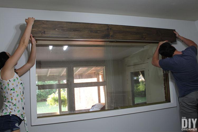 How to install a wood window cornice.