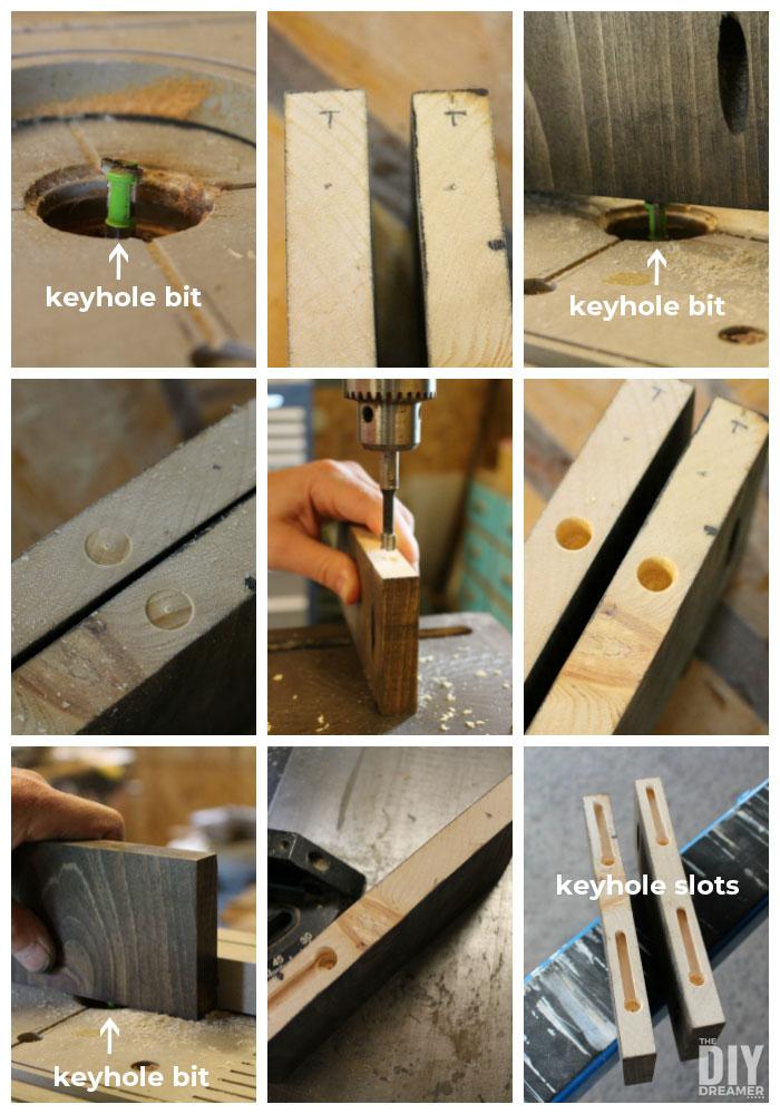How to make keyhole slots using a keyhole bit.