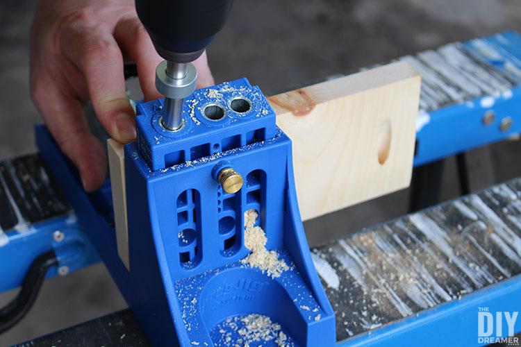 Make pocket holes with Kreg Jig.