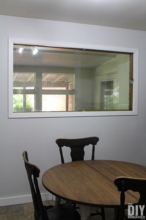 Window before window treatment