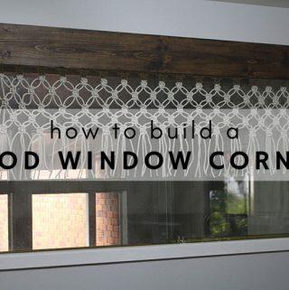 How to build a wood window cornice.