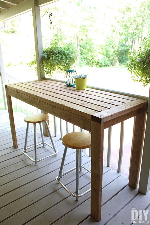 How to build an outdoor table with 2x4s.