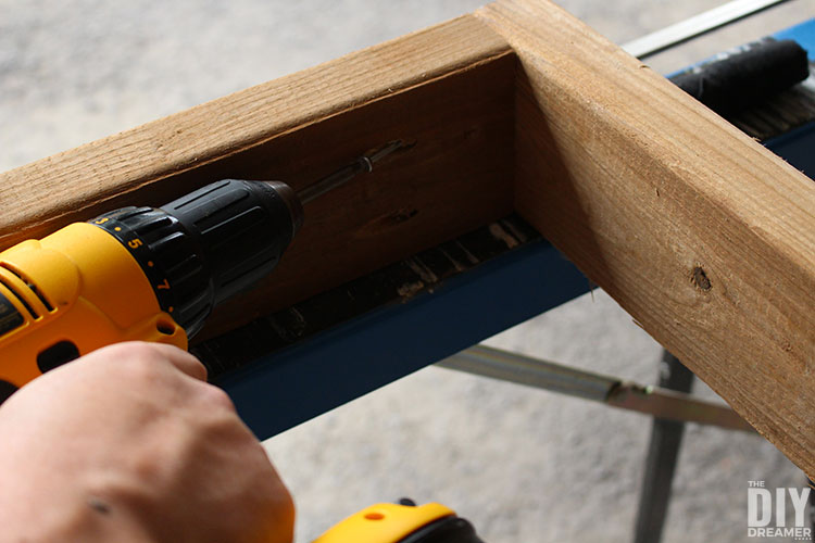 Attach the pieces together with decking screws.