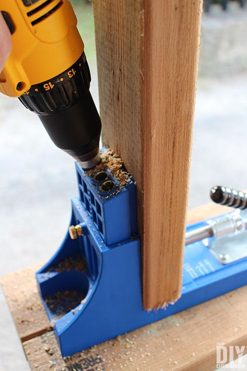 Use a Kreg Jig to make pocket holes.