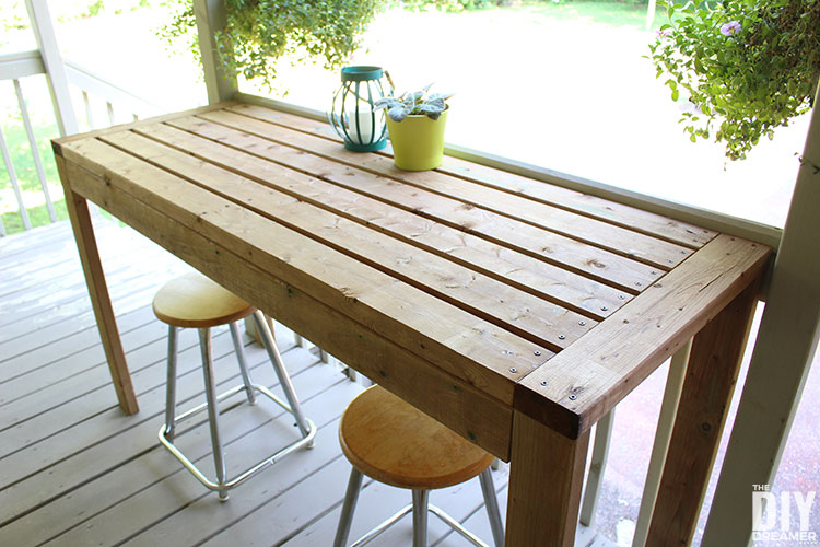 Surprising How To Build A 2X4 Outdoor Bar Table The Diy Dreamer Home Interior And Landscaping Ymoonbapapsignezvosmurscom