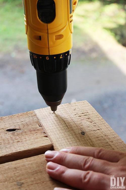 Pre-drill holes before adding screws.