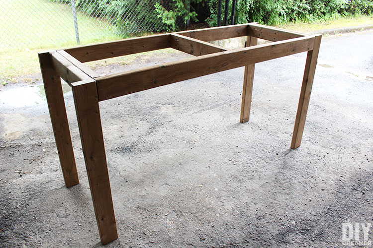 Fantastic How To Build A 2X4 Outdoor Bar Table The Diy Dreamer Download Free Architecture Designs Rallybritishbridgeorg