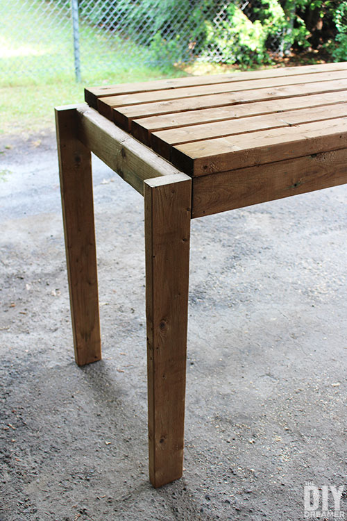How to make a tabletop for an outdoor table.