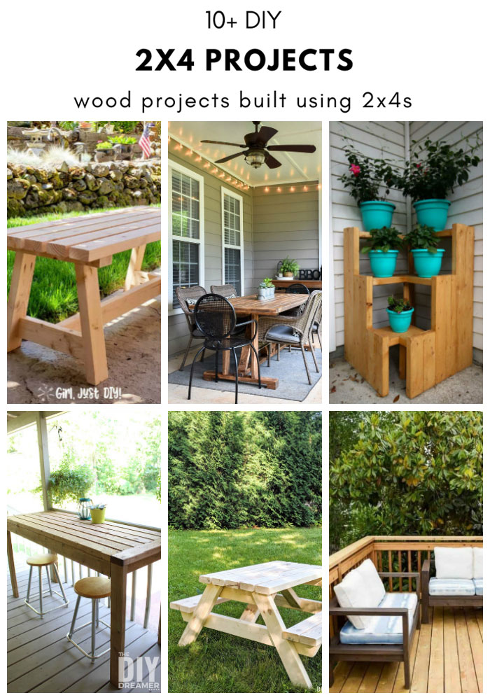 DIY 2x4 Projects. 10+ wood projects built using 2x4s.
