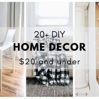 A collection of DIY home decor ideas to help make decorating on a budget easier.