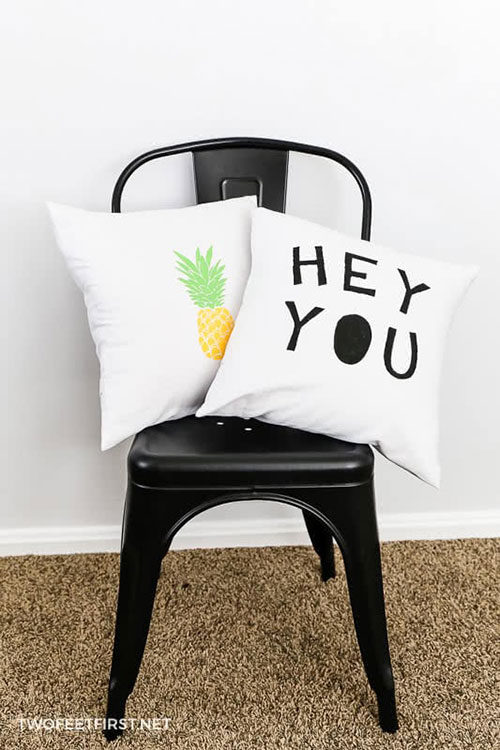 How to make decorative pillow covers for less than $20