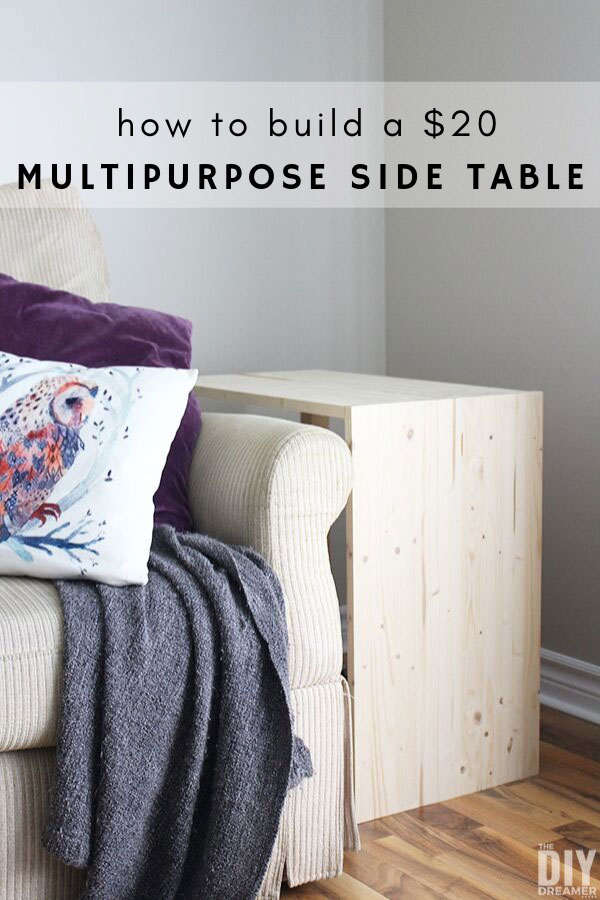 How to build a multipurpose side table for your living room.
