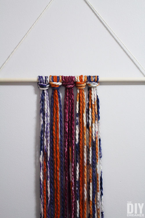 Colorful yarn knots.