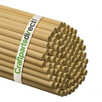 1/2 Inch x 48 Inch Wooden Dowel Rods - Unfinished Hardwood Dowels For Crafts & Woodworking - By Craftparts Direct - Bag of 5