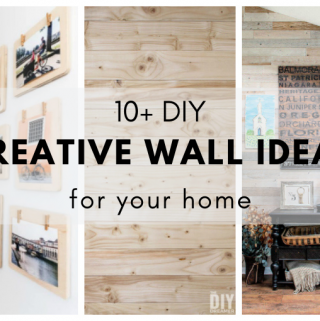 Over 10 DIY Creative Wall Ideas for your home.