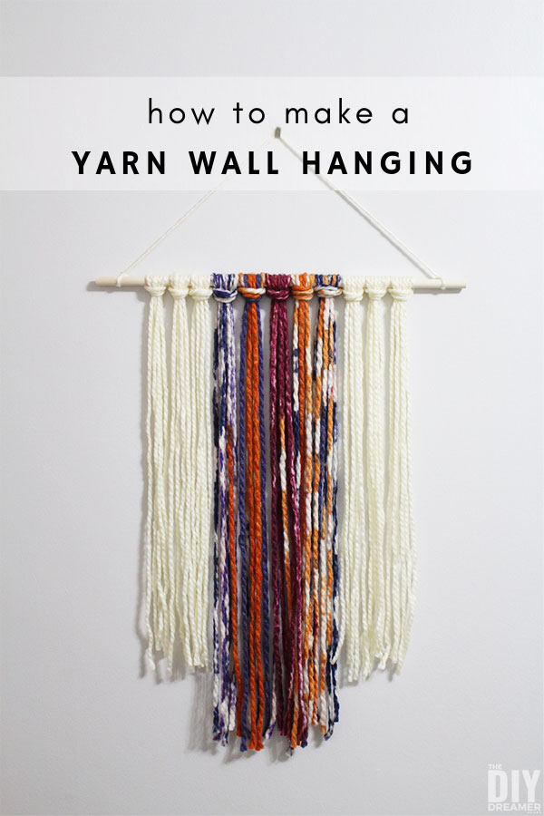 How to make a yarn wall hanging. This yarn wall hanging was made by a 10 year old and took less than 1 hour to make.