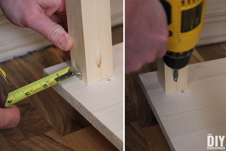 Measure the edge before assembly