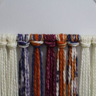 Yarn wall hanging.