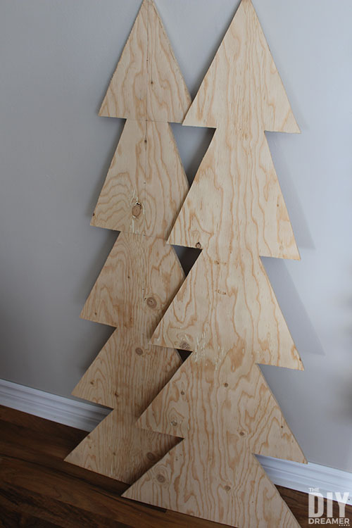 4 feet wood tree cut outs made from plywood.