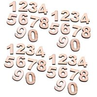 COSMOS 40 PCS Wooden Numbers for DIY Craft, Number 0 to 9, Total with 4 sets