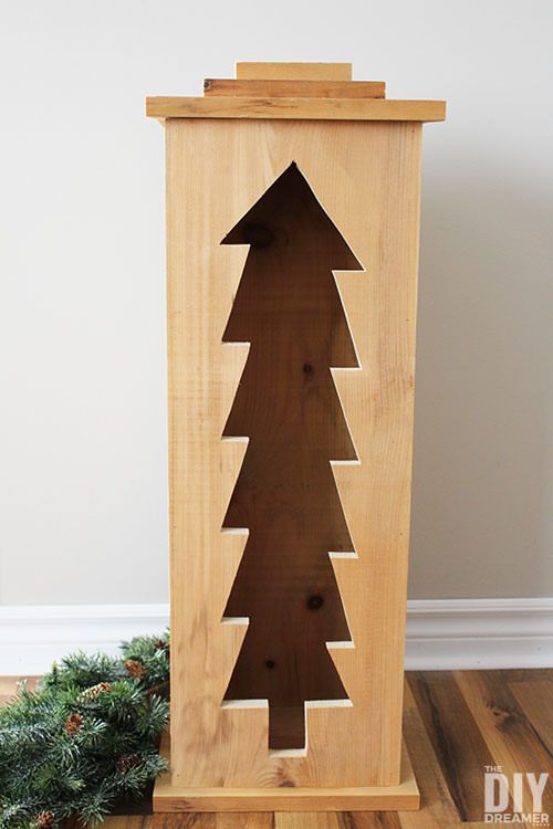Learn how to build this Christmas tree wood lantern under 2 hours. This DIY wooden Christmas lantern can be used as an indoor and outdoor Christmas decoration.