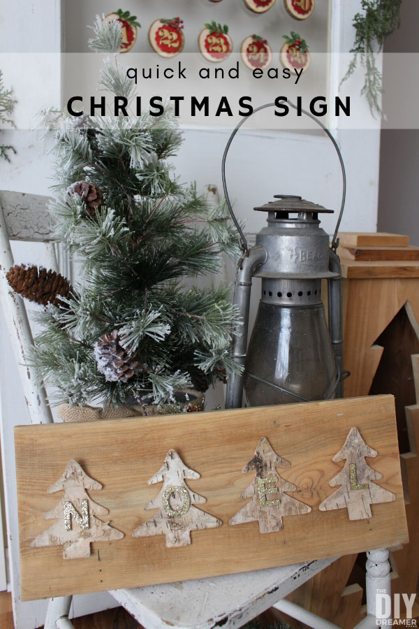 Quick and easy Christmas sign. This tutorial will inspire you to create your own sign for Christmas.