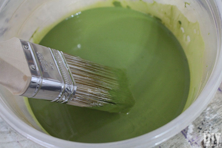 Add water to the paint to make a stain.