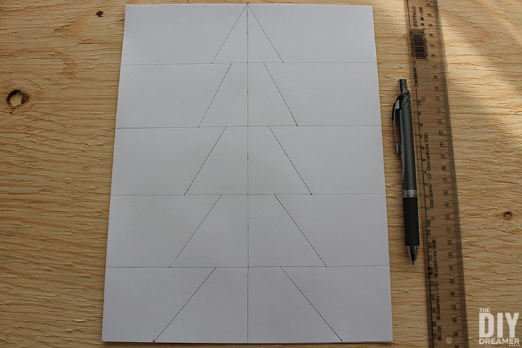 Connect dots and lines to create tree shape.