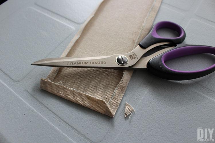 Cut corners before sewing.