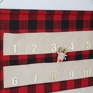 DIY Fabric Christmas Countdown with pockets.