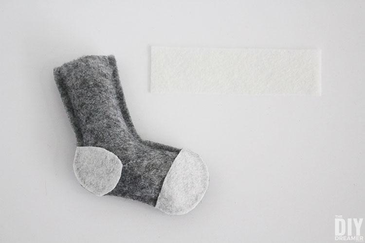 Sock cuff.
