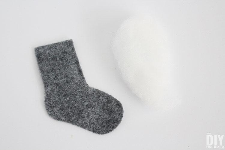 Insert filling into sock.