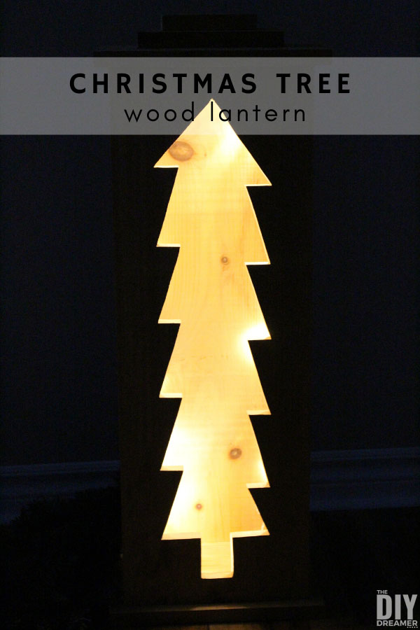 How to build a Christmas tree wood lantern.