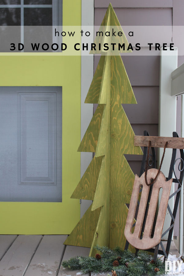 Learn how to build a 3D wood Christmas tree. This makes a great outdoor decoration.