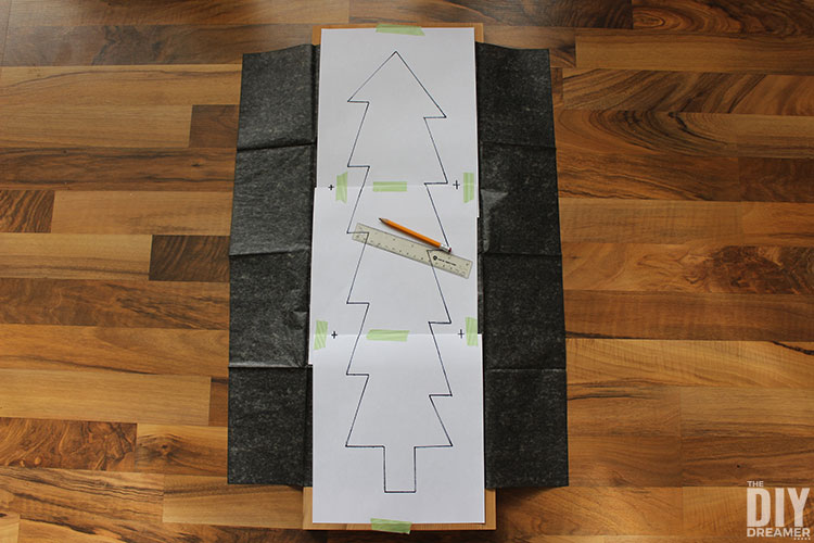How to transfer design onto a piece of wood with graphite paper.