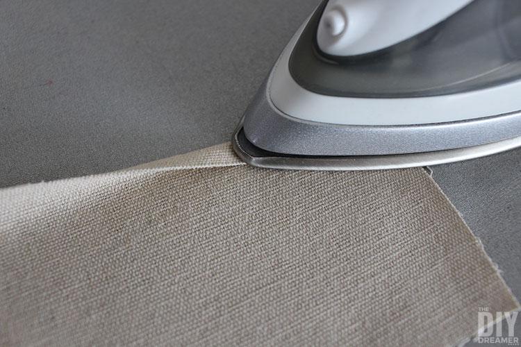 Use iron to press seams to sew.