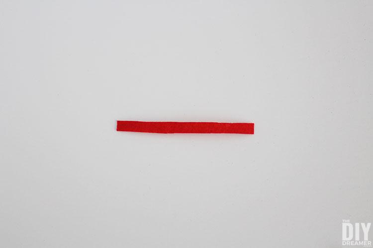 Red felt piece.