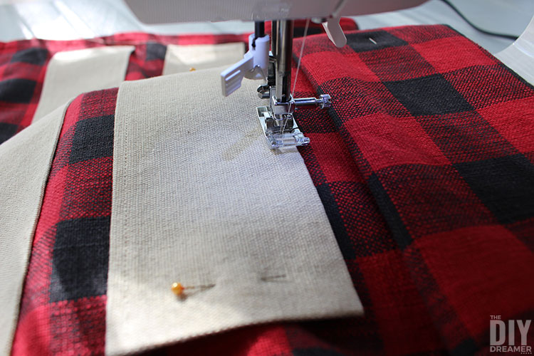 Roll side of fabric to have more room while sewing.
