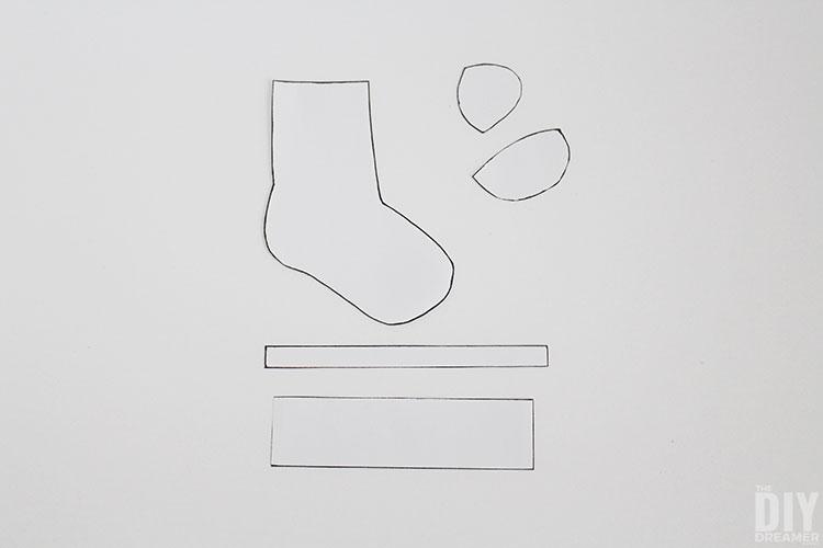 Wool socks cut outs.
